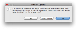 Eclipse Restart Dialog