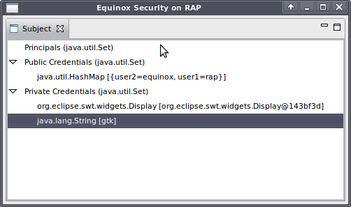 Using Equinox Security in RCP and RAP