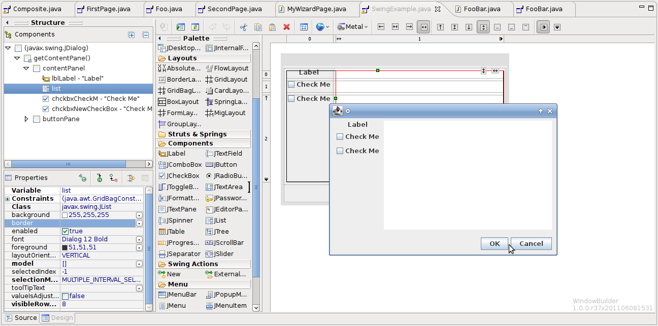 Window builder top indigo feature 2 eclipsesource the swt designer supports simple swt interfaces jface dialogs such as wizards forms databinding integration and support for creating rcp applications baditri Choice Image