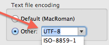 Text File Encoding Preference