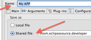 Store your Launch Configuration in a Project