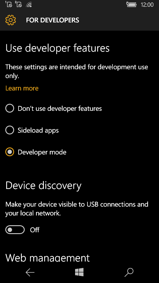 Sideloading Apps on Windows 10 Devices - EclipseSource
