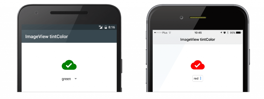 Tint color on Android and iOS
