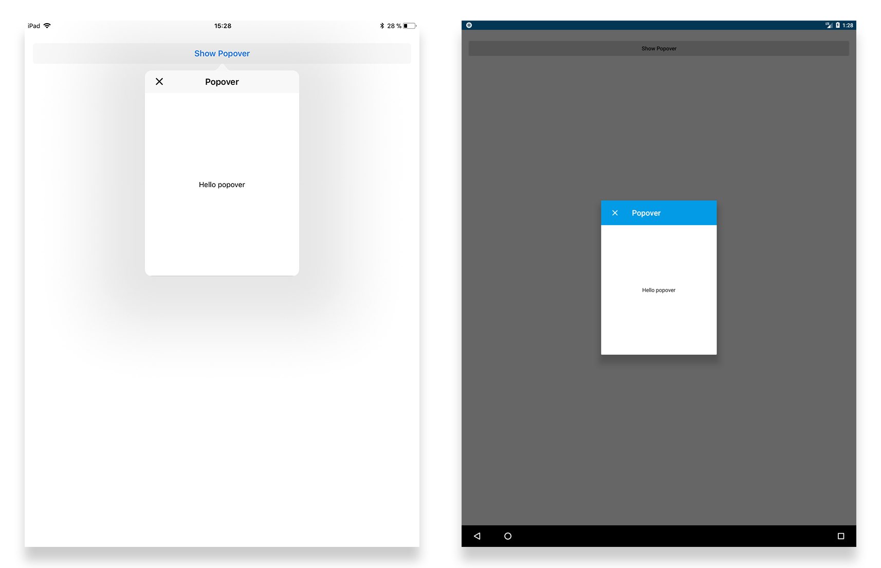 Tabris.js 2.5 released with support for gradients, popover window and more